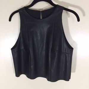 H & M Vegan Leather top